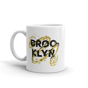 Black and Yellow Brooklyn Typography Mug