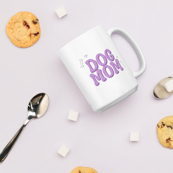 Dog Mom Purple Mug