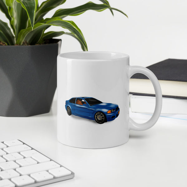 gifts for car enthusiast blue bmw
