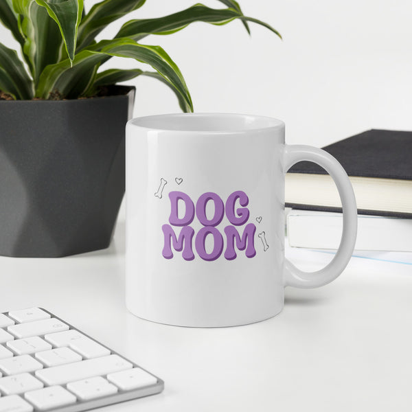 Purple Dog Mom Mug