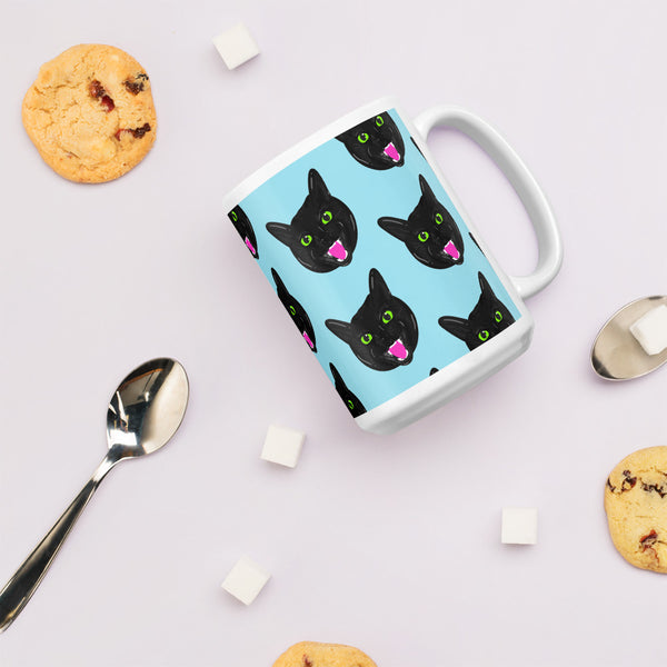 black cat mug for cat lovers
