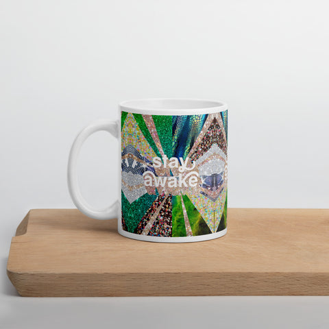 stay awake sparkle mug