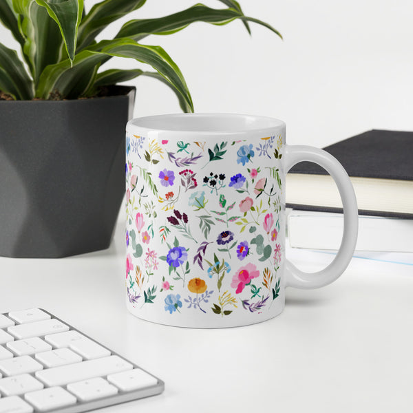 Colorful Floral Pattern Mug
