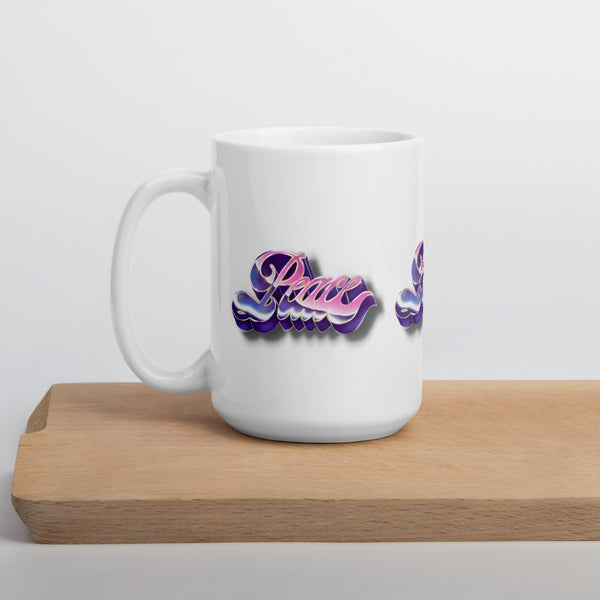 Metallic Graffiti Peace Mug