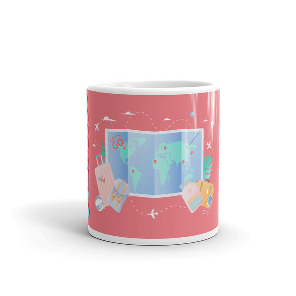 world map traveler mug
