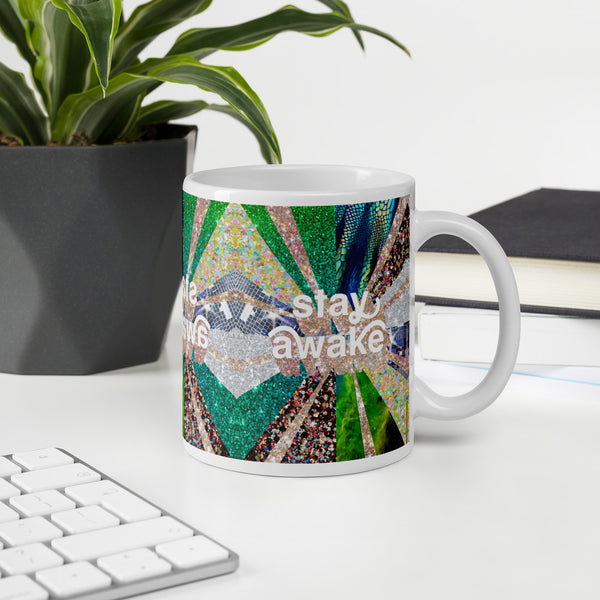 Stay awake funky pattern mug