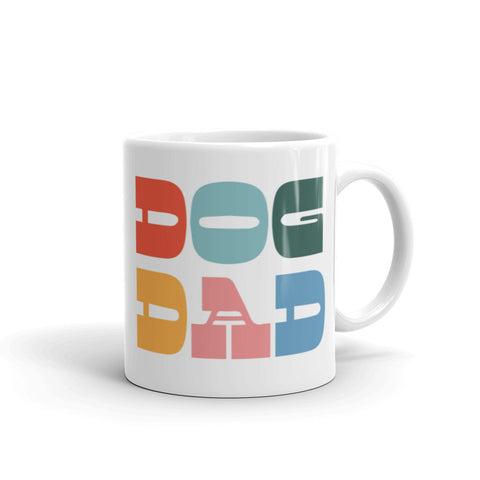 dog dad rainbow mug