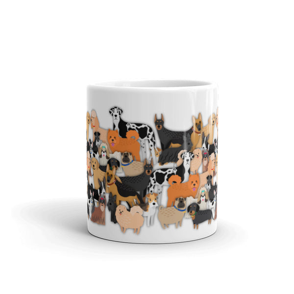 a ton of fucking dogs mug