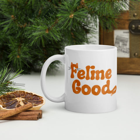 feline good funny tabby cat mug