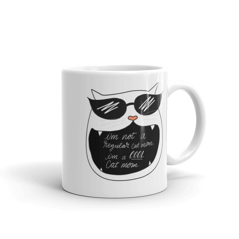 cool cat mom mug