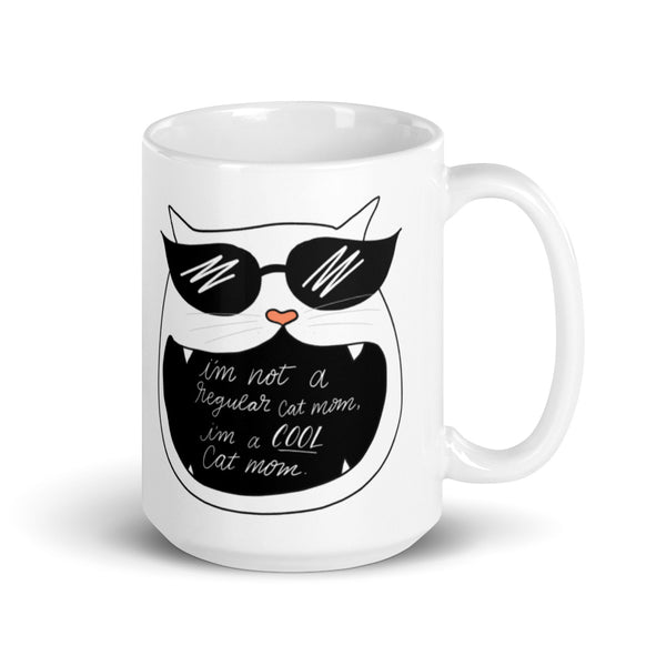 not a regular cat mom mug
