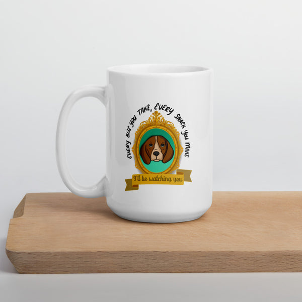 I'll Be Watching You Beagle Mug