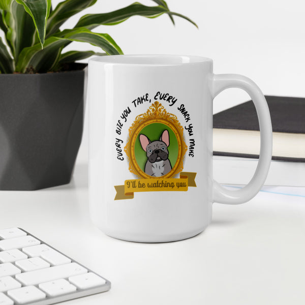 Funny Gray French Bulldog Mug
