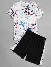 Load image into Gallery viewer, Men's Splash T-Shirt / Shorts Set