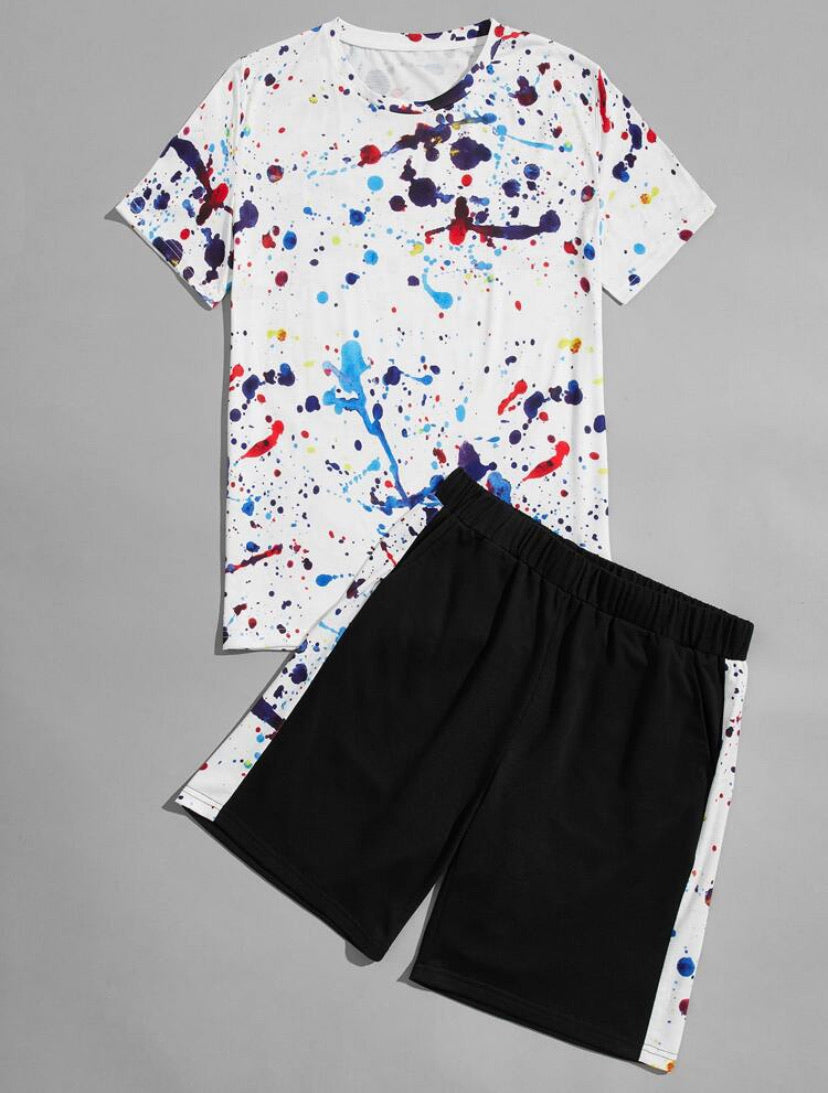 Men's Splash T-Shirt / Shorts Set