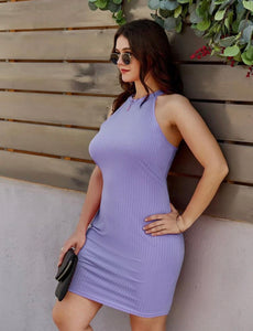 Ladies Curve Lavender Dress