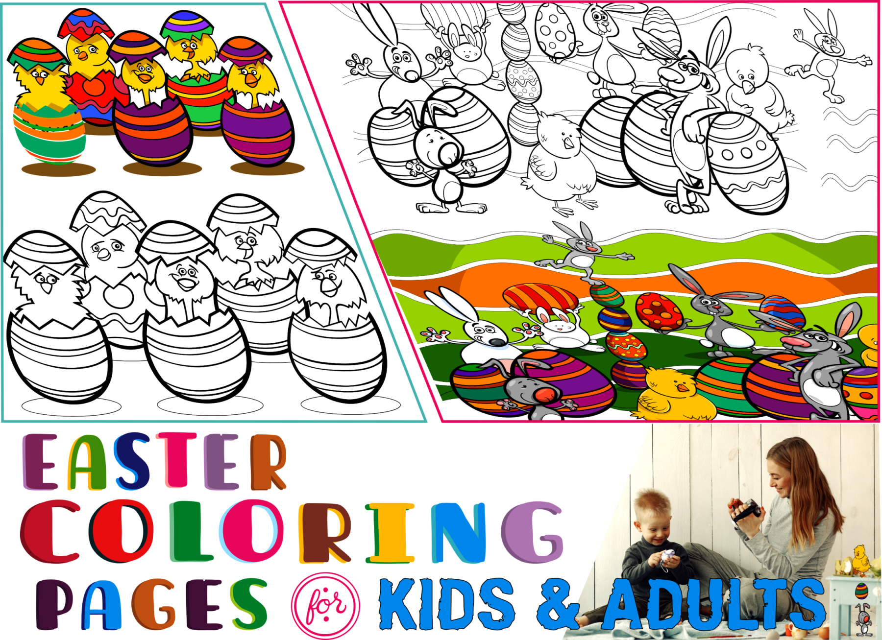 Top 10 Easter Coloring Pages & Printables Sources | 1307x1800
