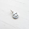 Heart Eye Emoji Charm Sterling Silver Love Smiley Emoticon (CNA1845)