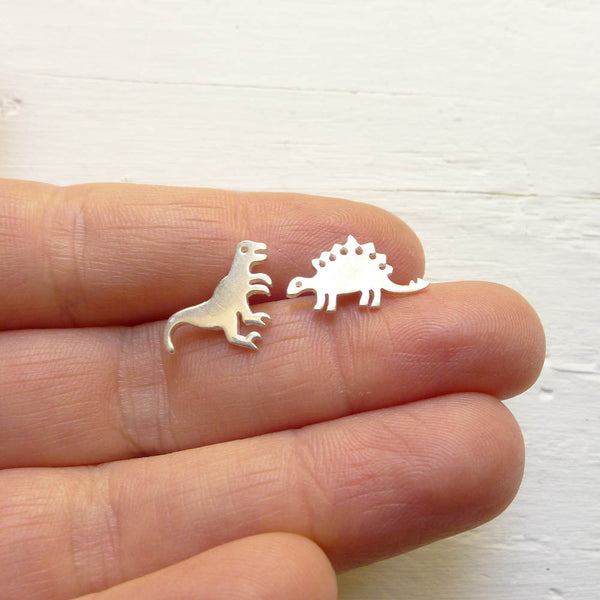 Dinosaur Earrings Dino Studs Sterling Silver