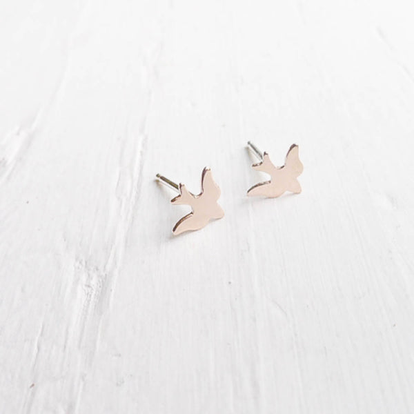 Gold Sparrow Studs