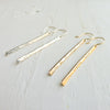 Hammered Stick Earrings {Silver, Gold, or Rose Gold}