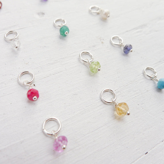 Add a Birthstone Gemstone or Pearl to My Personalized Necklaces