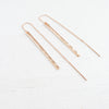 Rose Gold Stick Thread Earrings