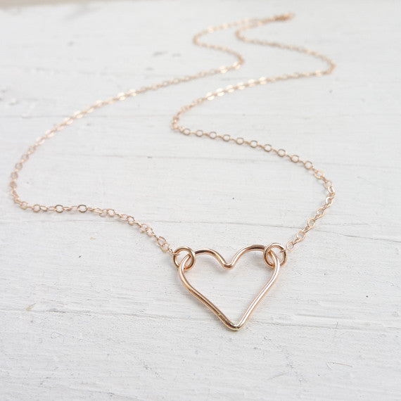 Open Heart Necklace {Silver, Gold, or Rose Gold}