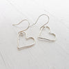 Wire Heart Dangle Earrings