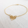As Seen on The Fosters TV Show - Hammered Heart Baptism Bracelet