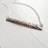 As Seen on The Vampire Diaries Floral Sterling Silver Bar Necklace