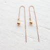 Rose Gold Drop Ear Threads
