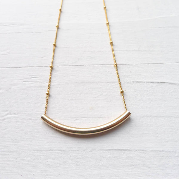 Layering Tube Necklace {Silver or Gold}