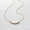 Gold Filled Tube Necklace
