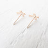 Tiny Cross Stud Earrings in {Silver or Gold}
