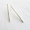 Hammered Bar Studs in Sterling Silver