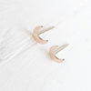 Crescent Moon Studs {Silver or Gold}