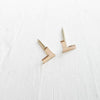 Tiny Chevron Studs {Silver or Gold}