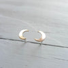 Crescent Moon Studs in Sterling Silver and Gold Filled