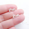 Love Script Earrings