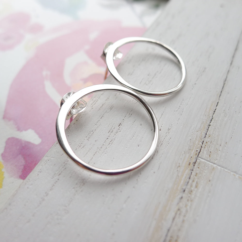 Open Circle Studs Sterling Silver (FNT2953)