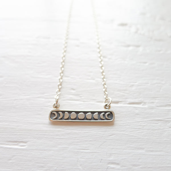 Moon Phase Bar Necklace