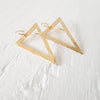 Large Triangle Dangle Earrings {silver or gold}