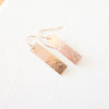 Pounded Rectangle Earrings {Silver, Gold, or Rose Gold}
