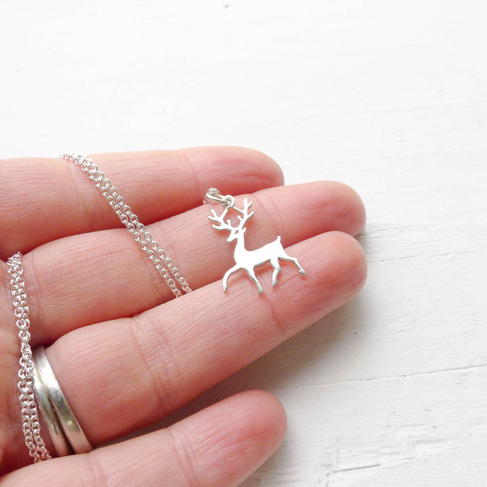 Stag Necklace in Sterling Silver