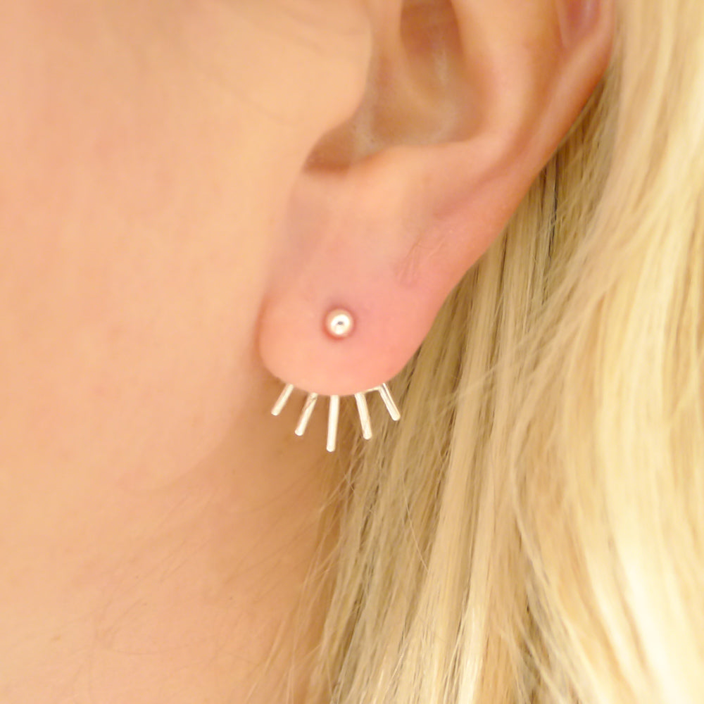 Ear Jacket Studs Front Back Earrings