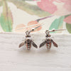 Bee Dangle Earrings in Sterling Silver
