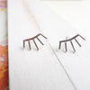 Eyelash Earrings Sterling Silver Spike Studs