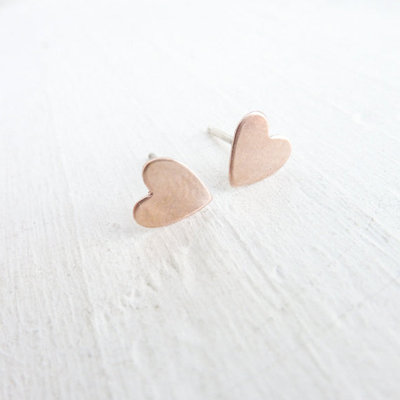 Heart Studs {Rose Gold or Silver}