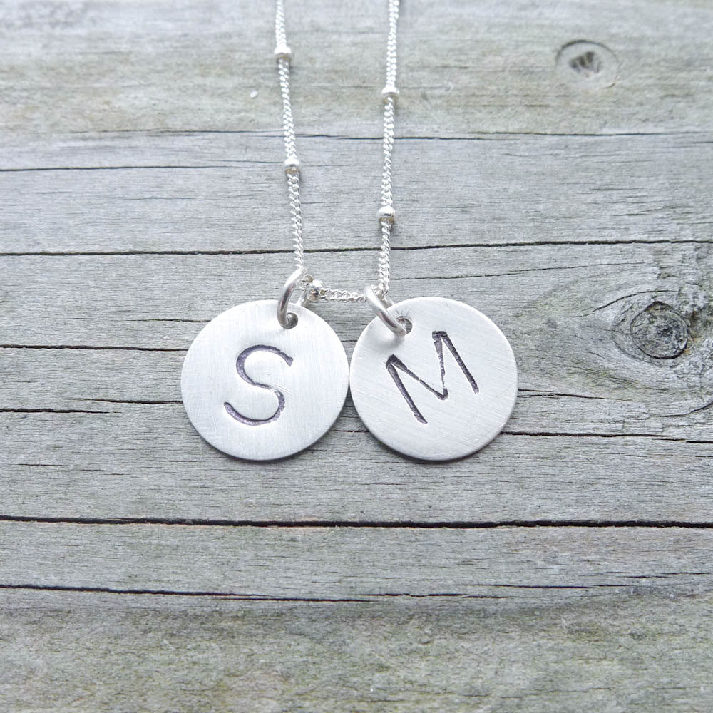 Monogram Necklace in Sterling Silver